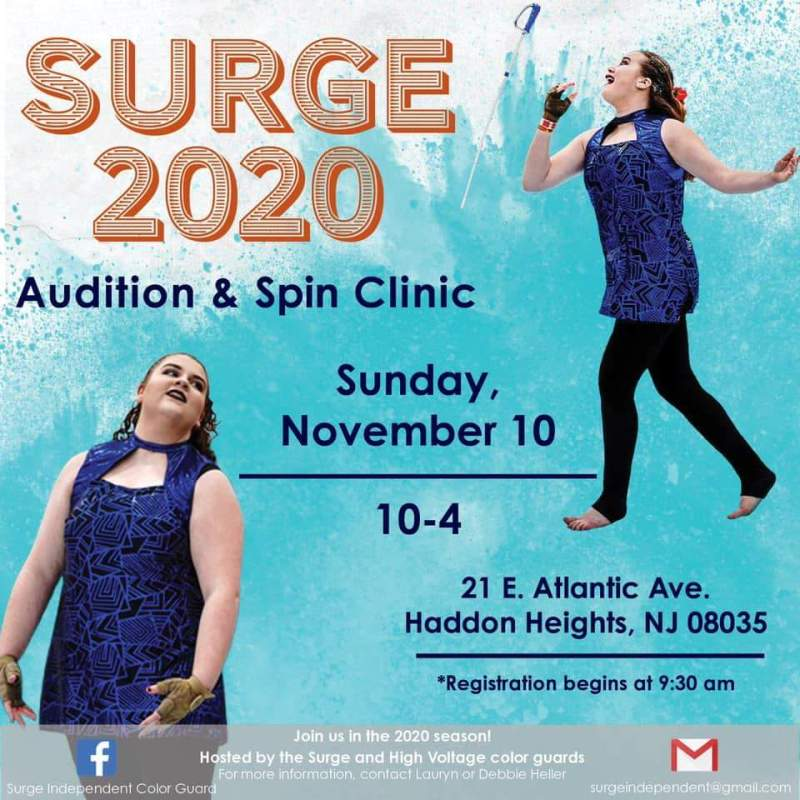 Audition and Spin Clinic, November 10, 2019 – Surge