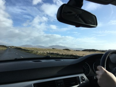 Driving on Islay.