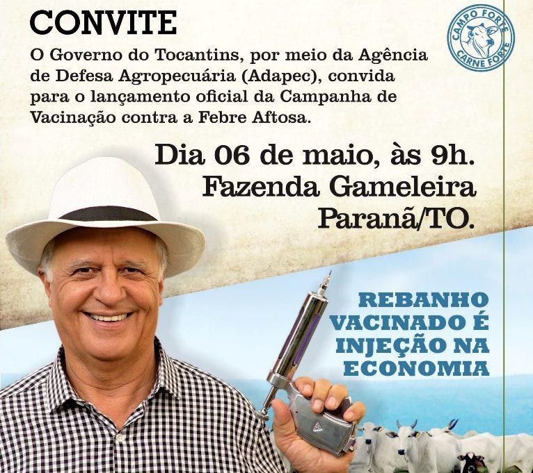 Campanha de vacinação contra febre aftosa será aberta oficialmente em Paranã