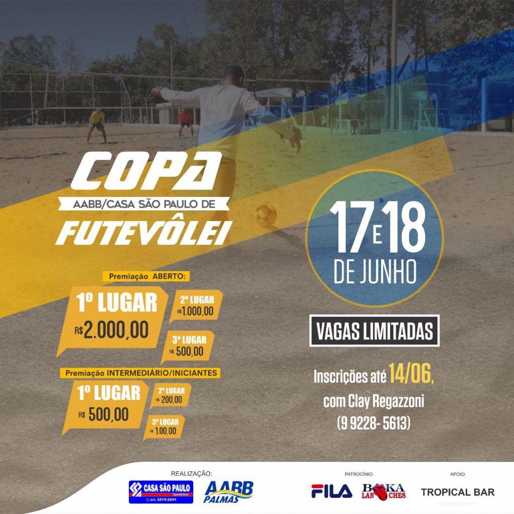 Abertas inscrições para Copa AABB/Casa São Paulo de Futevôlei