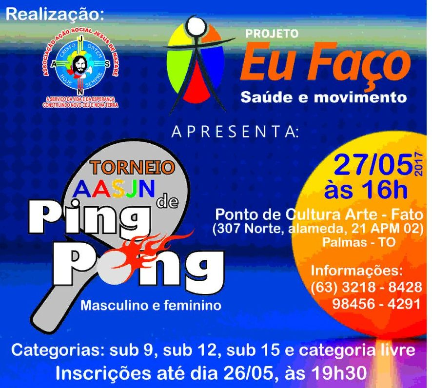 Torneio de Ping Pong da AASJN acontece dia 27