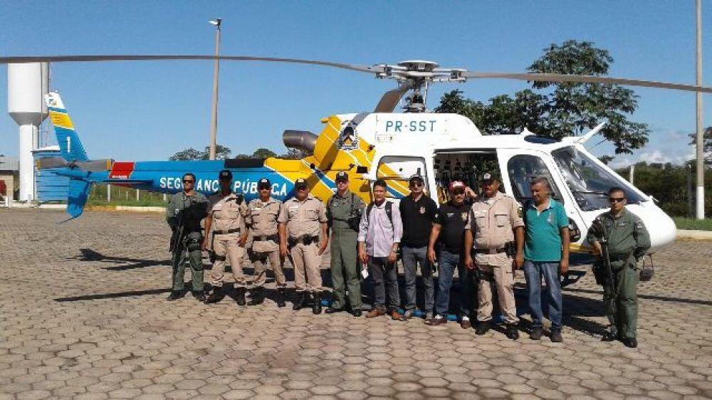 Retorno das atividades do helicóptero da SSP completa um ano de operações no Estado
