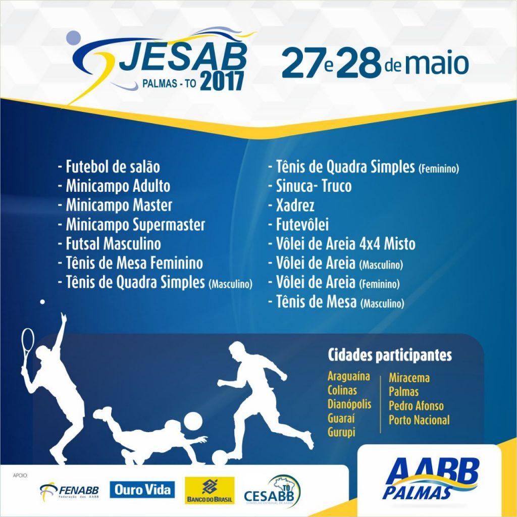 Mais de 400 atletas de várias regiões do Tocantins se reúnem neste fds para Jesab 2017