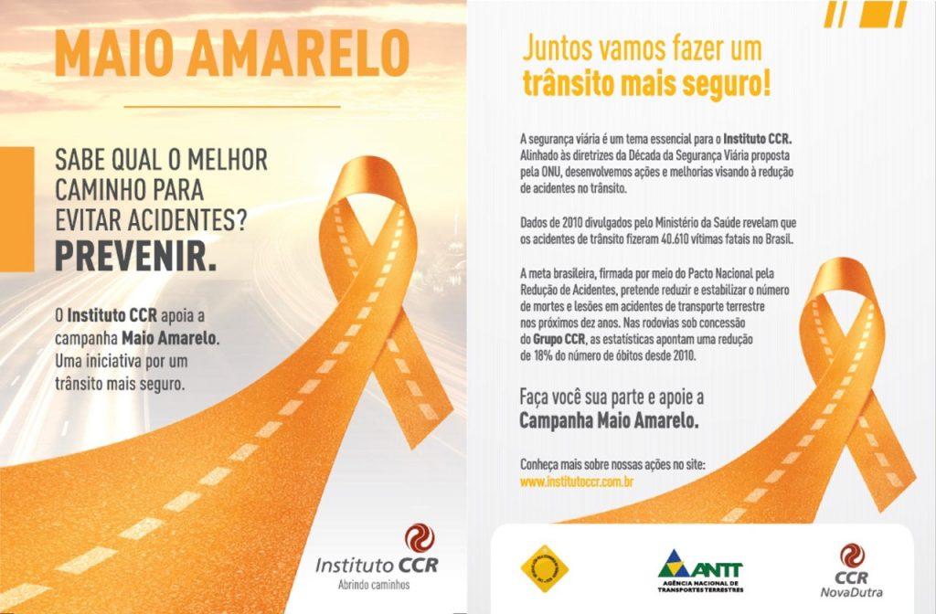 Maio Amarelo será tema do Programa Estrada para a Saúde, na via Dutra, em Roseira (SP)