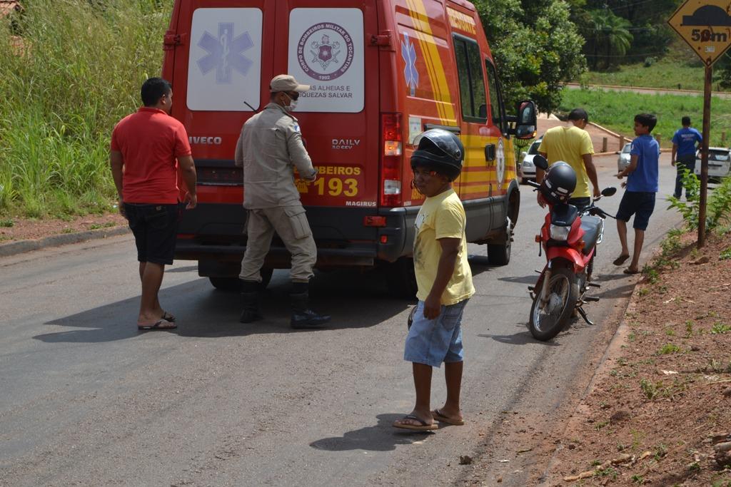 Motociclista cai em travessia de setores, em Paraíso TO