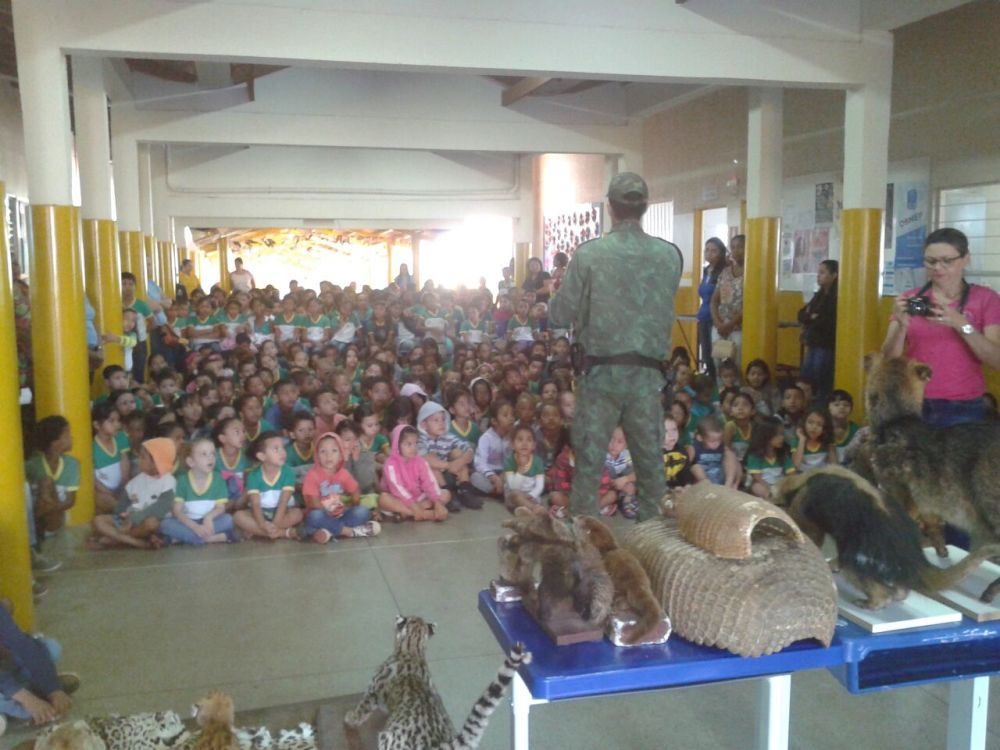 Polícia Militar realiza palestras de educação ambiental em escolas municipais
