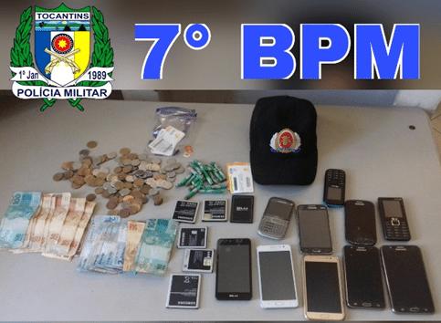 Polícia Militar detém dois indivíduos suspeitos pela prática de roubos realizados em Colméia e Itaporã TO