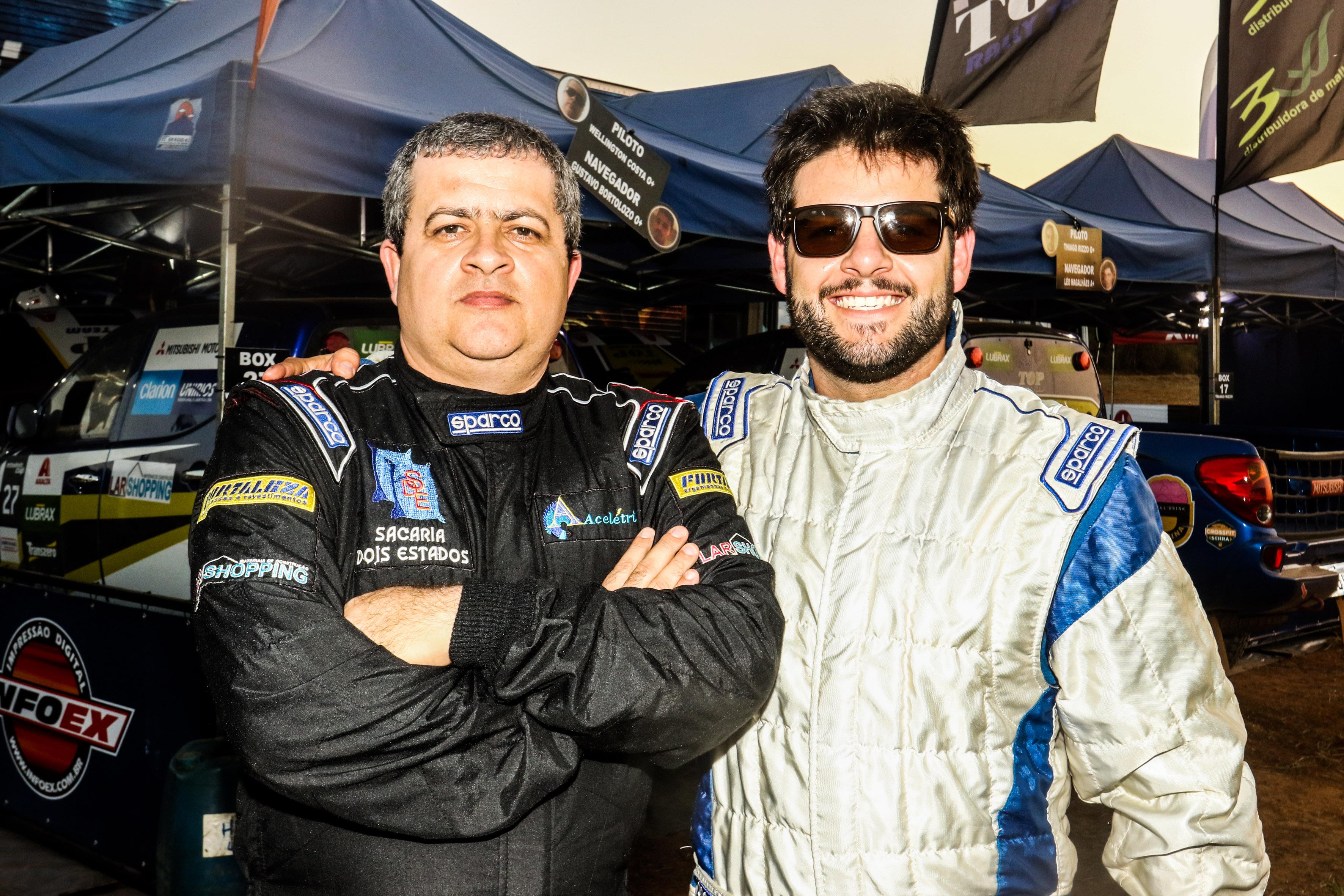 Wellington Costa e Rafael Arena estão ansiosos para o Rally dos Sertões 2017