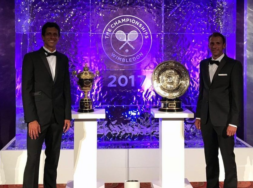 O campeão Marcelo Melo participa de Jantar de Gala de Wimbledon e curte momento especial na Europa