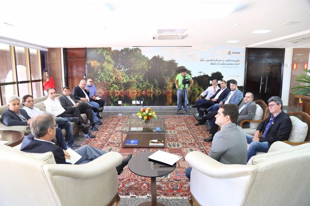 Diretoria da Acipa se reúne com governador Marcelo Miranda no Palácio Araguaia