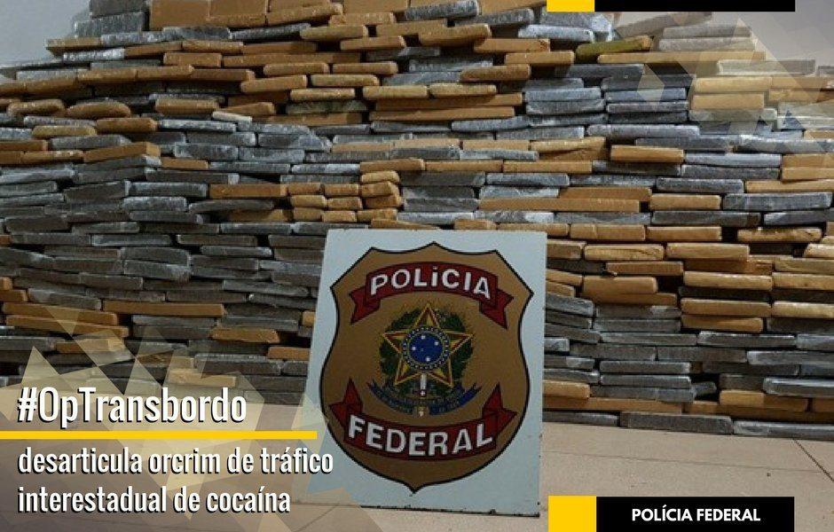PF desarticula grupo criminoso de tráfico interestadual de cocaína