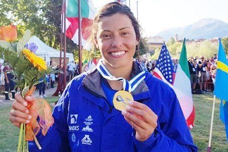 Na canoagem slalom, Ana Sátila ganha medalha de ouro inédita em Ivrea, na Itália