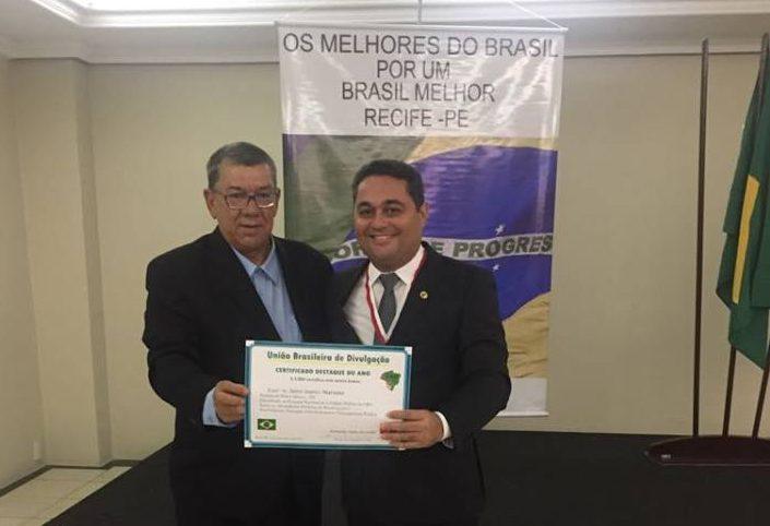 Prefeito de Pedro Afonso é avaliado como um dos 100 melhores gestores do Brasil