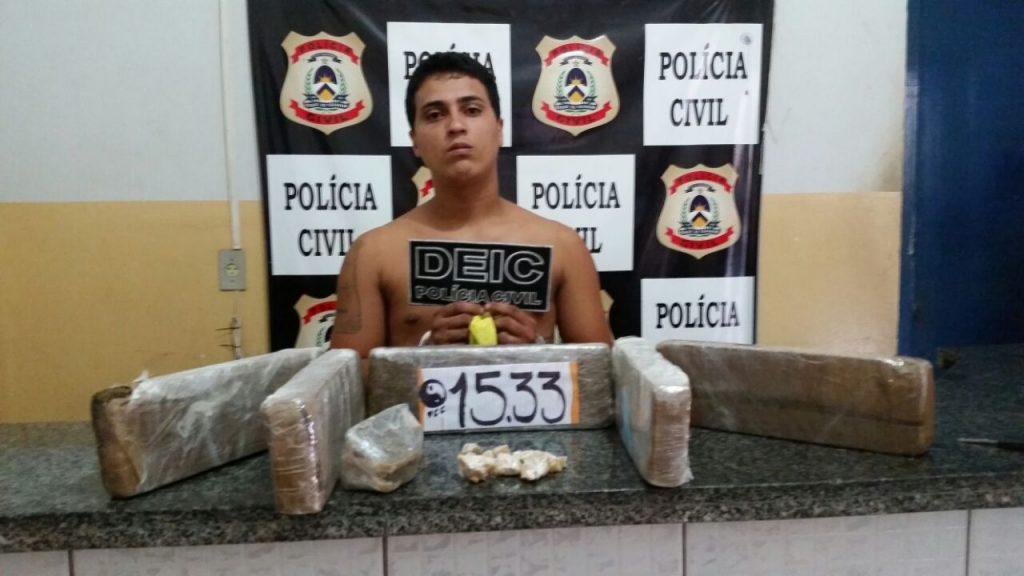 Polícia Civil apreende mais de 5kg de drogas e prende suspeito por tráfico em Gurupi
