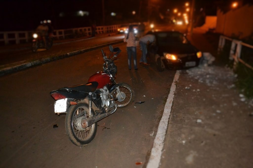 Polícia Militar do 8º BPM registra acidente grave e apreende menor e motocicleta, em Paraíso TO