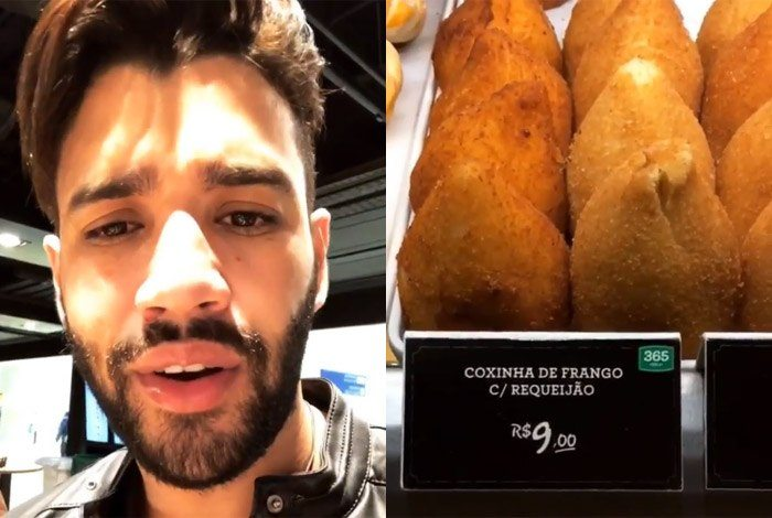 Gusttavo Lima se revolta com coxinha de R$ 9 em aeroporto: 'Não dou conta!'