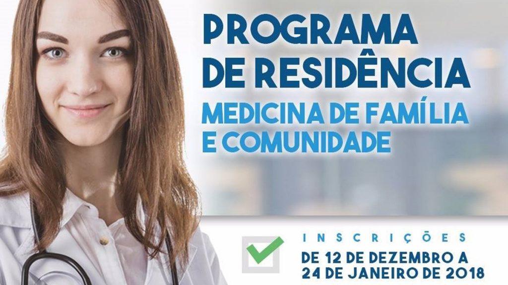 Inscrições para o Programa de Residência em Medicina de Família e Comunidade encerram nesta quarta, 24