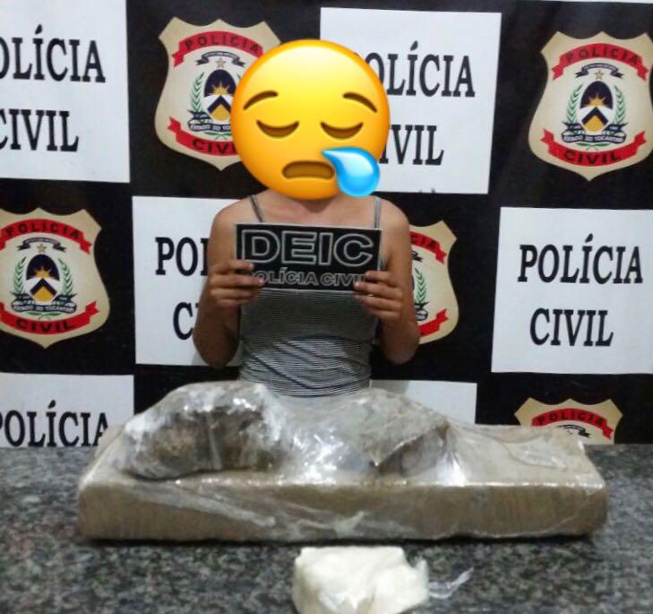 Polícia Civil apreende várias porções de drogas em poder de adolescente em Gurupi