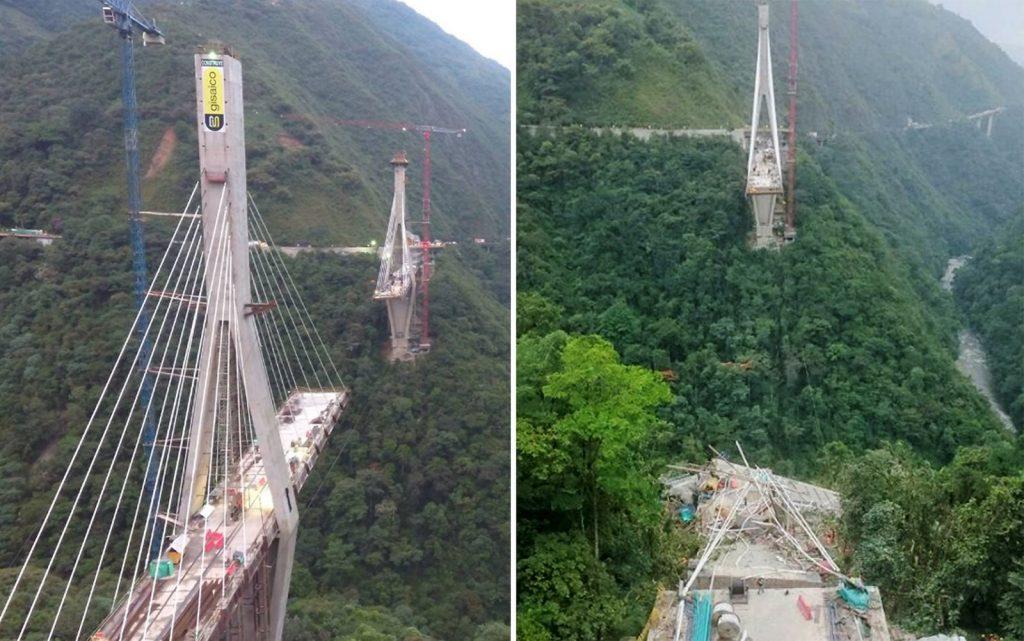 Ponte em construção desaba e dez pessoas morrem na Colômbia
