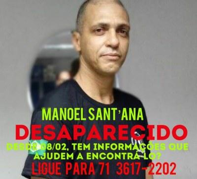 Manoel Sant'Ana, colaborador do MPF/BA, está desaparecido