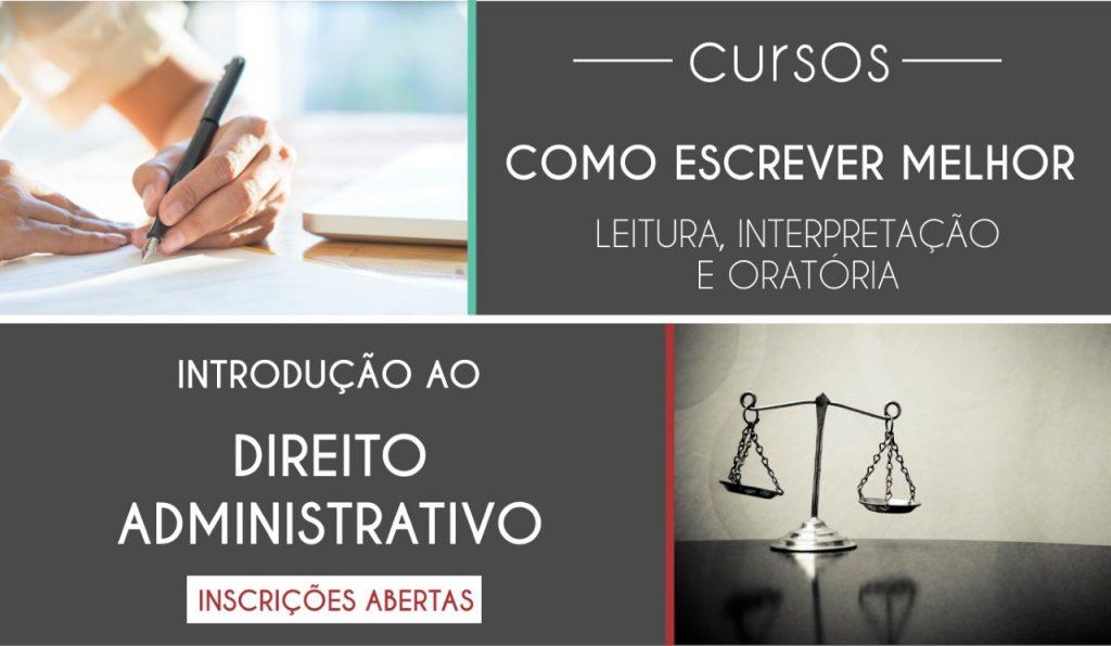 Ainda há vagas para cursos nas áreas de Direito e produção de texto