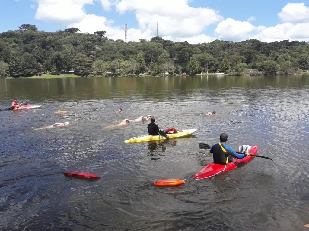 Lago São Bernardo em São Francisco de Paula teve natação neste domingo