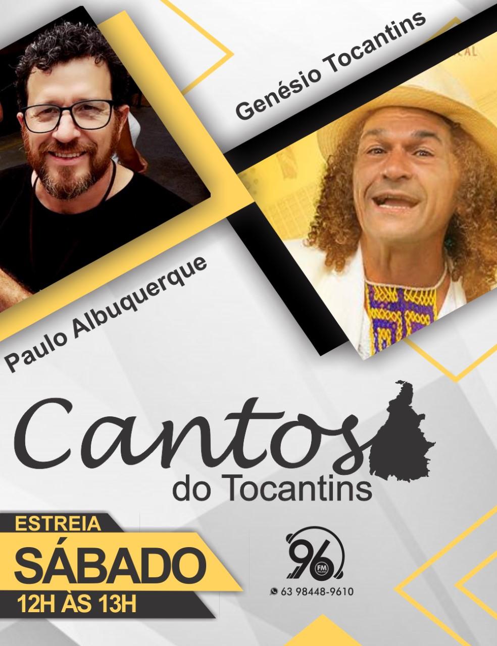 Cantos de Tocantins estreia na 96FM