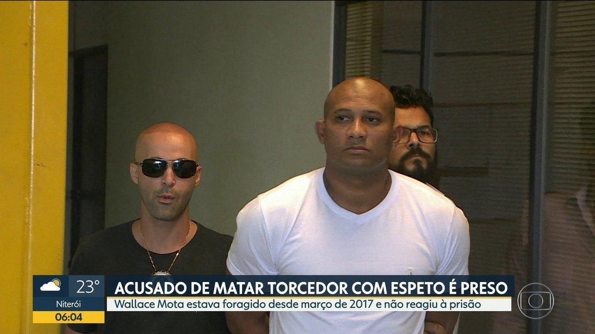 Polícia prende acusado de matar torcedor do Botafogo no ano passado