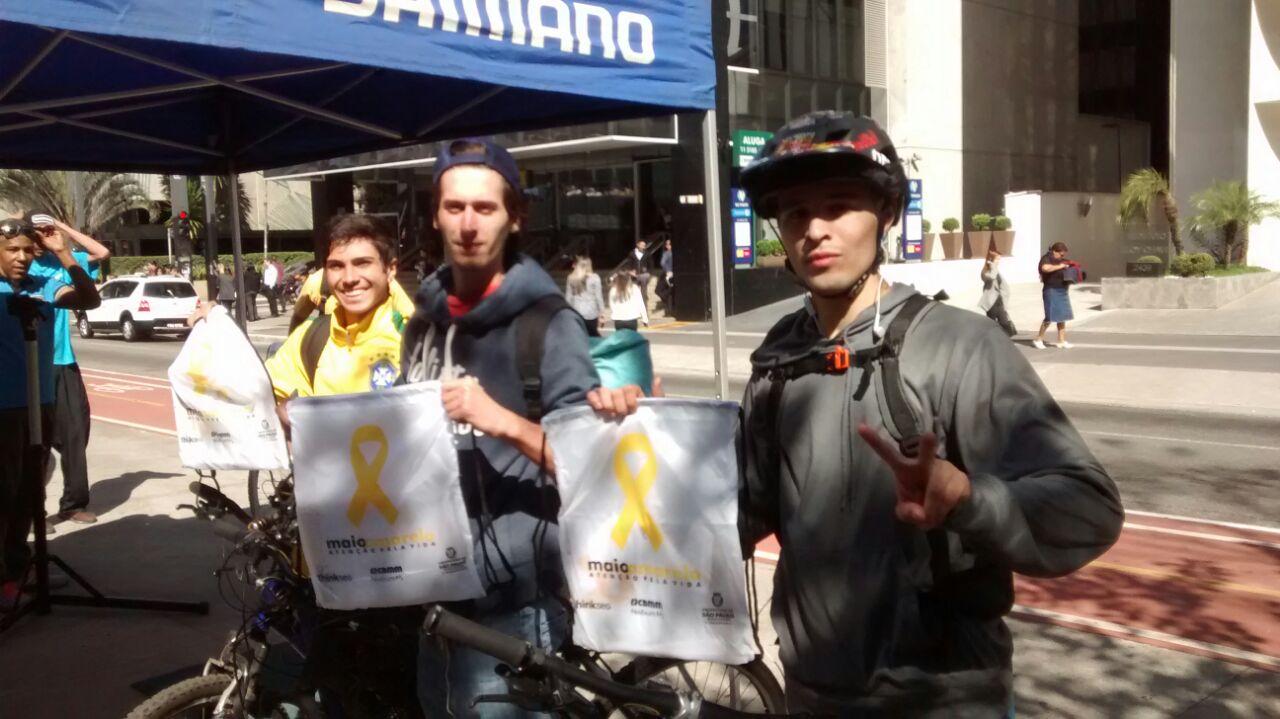 Maio Amarelo: Avenida Paulista tem ponto de apoio gratuito aos ciclistas até sexta-feira (25)