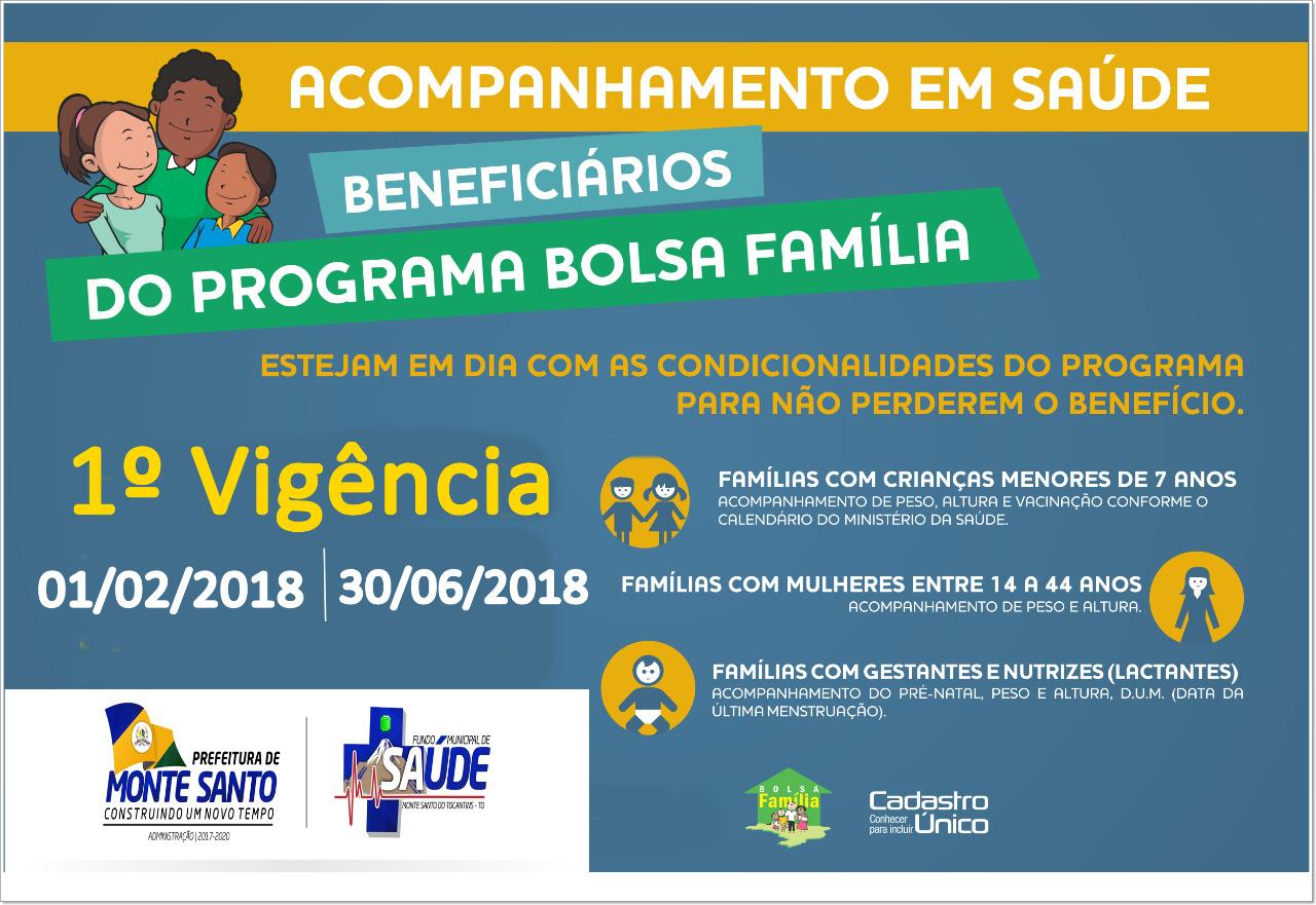 Beneficiários do Bolsa Família devem realizar acompanhamento em saúde até dia 30 em Monte Santo (TO)