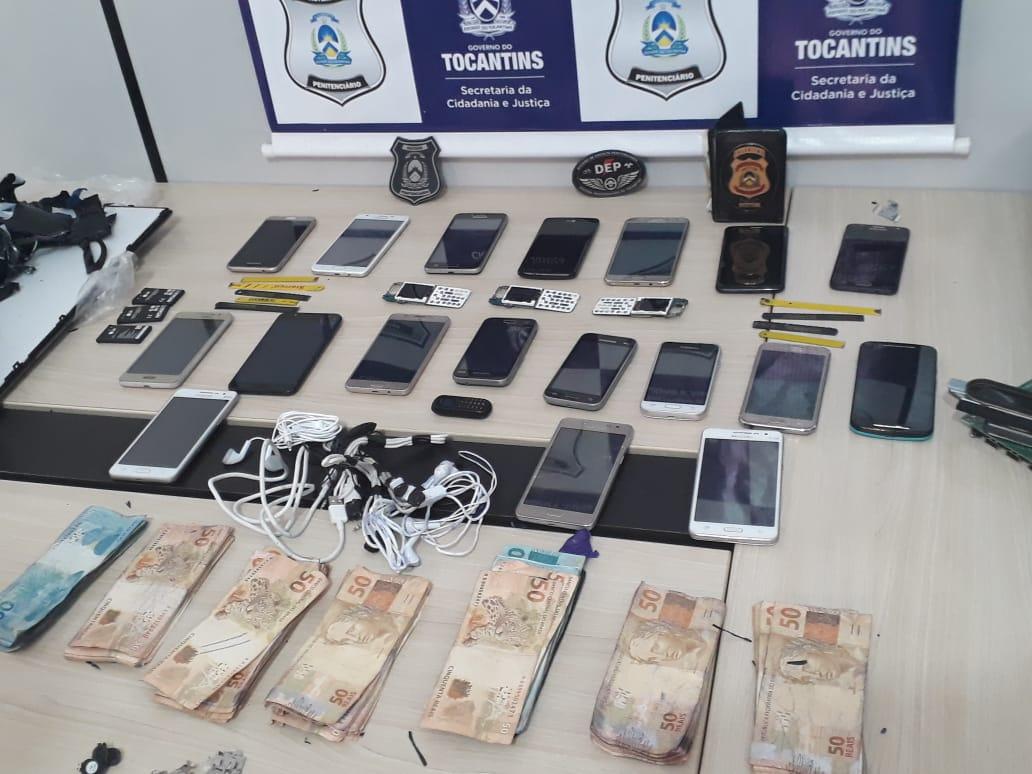Mulher é detida tentando entrar na CPP de Palmas com celulares e dinheiro