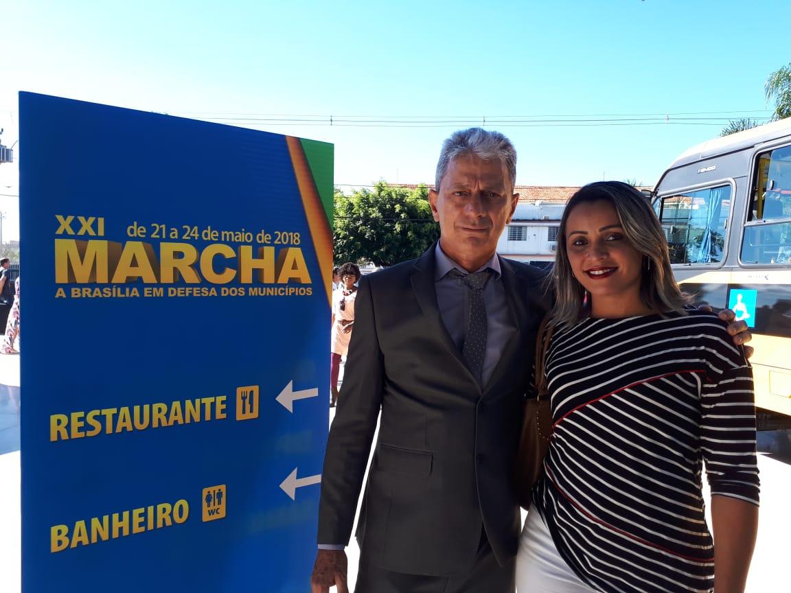 Prefeito de Dois Irmãos do Tocantins participa da XXI Marcha a Brasília em Defesa dos Municípios