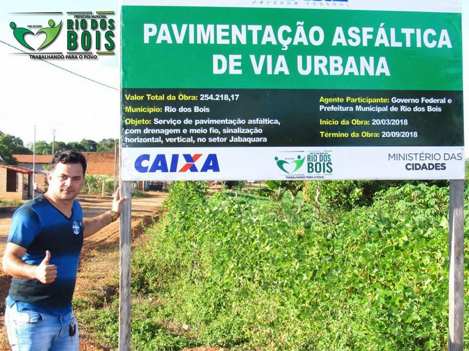 Prefeitura inicia obras de pavimentação do Setor Jabaquara em Rio dos Bois