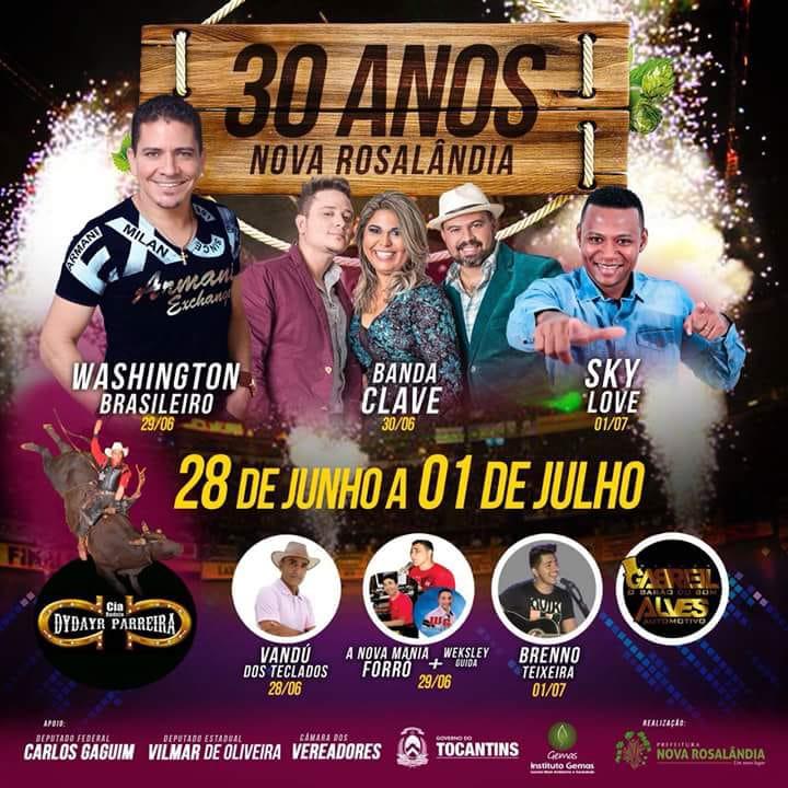 Nova Rosalândia (TO) comemora 30 anos com quatro dias de festa