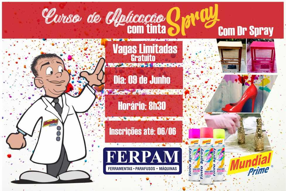 Estão abertas inscrições para o curso gratuito de aplicação com tinta spray em Palmas