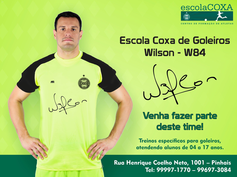 Em parceria com Wilson, Escola Coxa anuncia primeira unidade especializada em goleiros