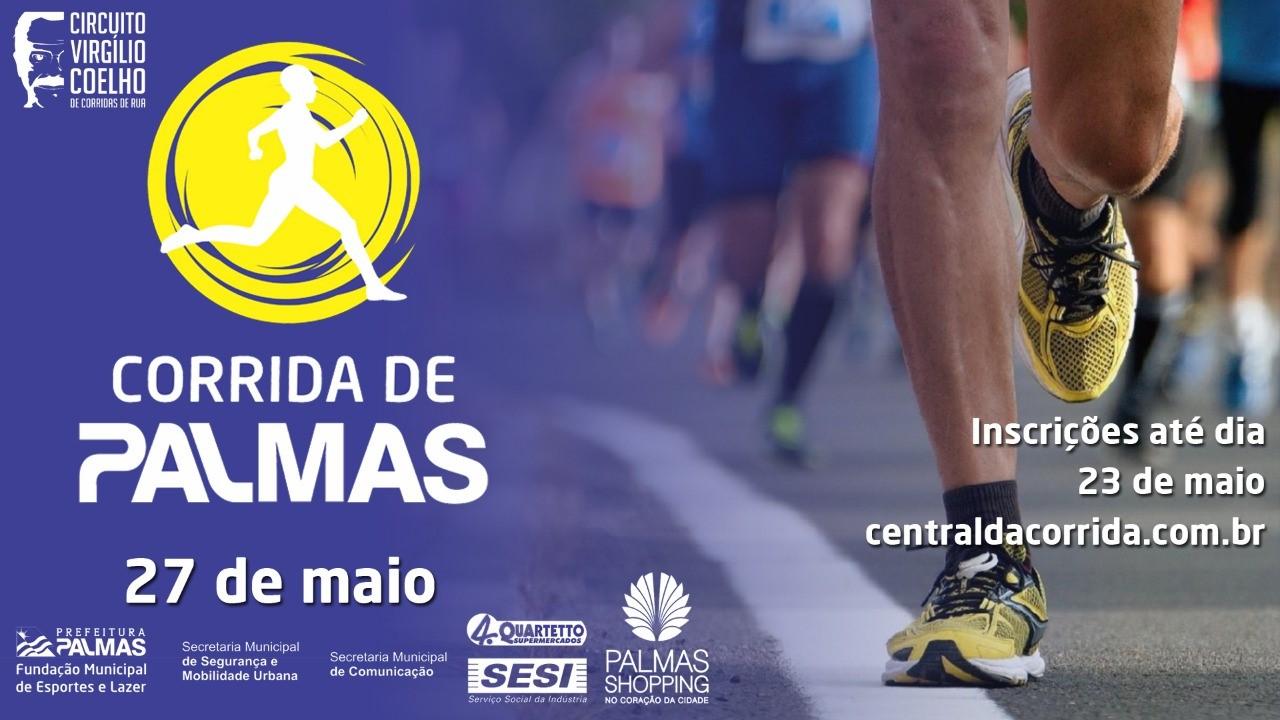 Atletas têm até esta quarta-feira, 23, para se inscreverem na Corrida de Palmas