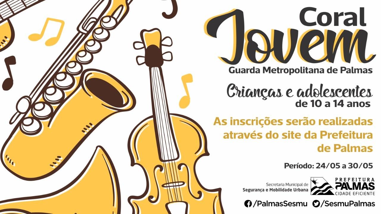 Guarda Metropolitana de Palmas abre inscrições para o Coral Jovem da nesta quinta-feira, 24