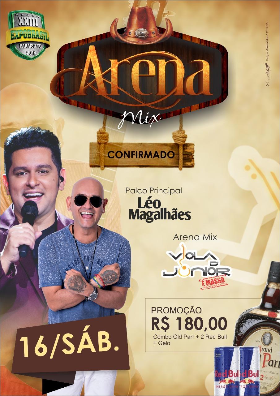 Arena Mix apresenta Viola D' Júnior neste sábado na Expobrasil em Paraíso (TO)