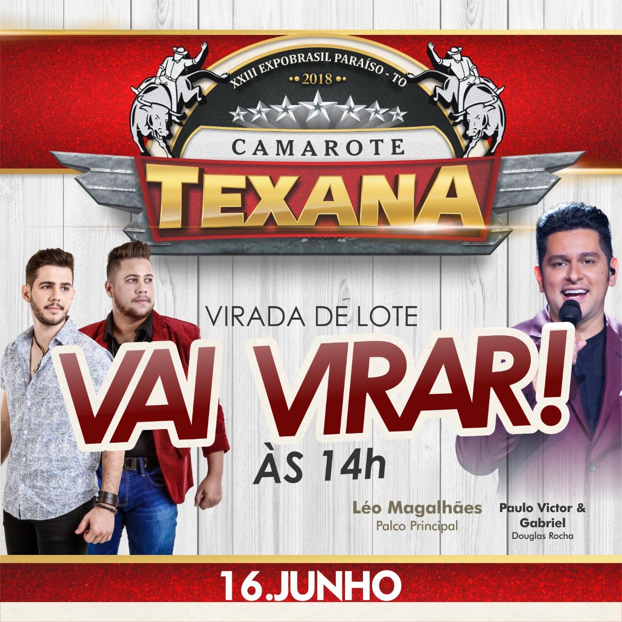 Hoje tem show de Paulo Victor & Gabriel no Camarote Texana e Léo Magalhães na Expobrasil