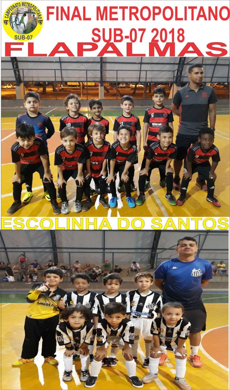 Flapalmas e Escolinha do Santos são os finalistas do Metropolitano Sub-7