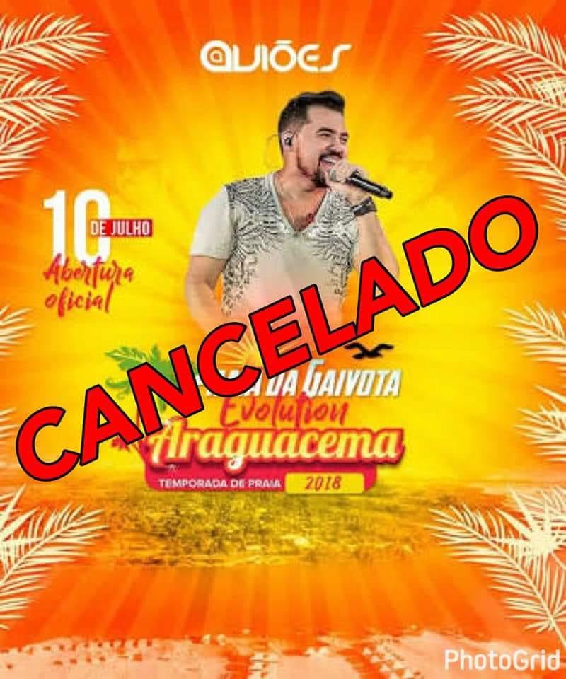Show de Xand Avião é cancelado na temporada de praia 2018 de Araguacema (TO)