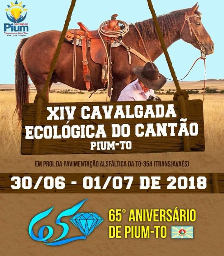 XVI Cavalgada Ecológica do Cantão acontece em Pium (TO) no final de junho