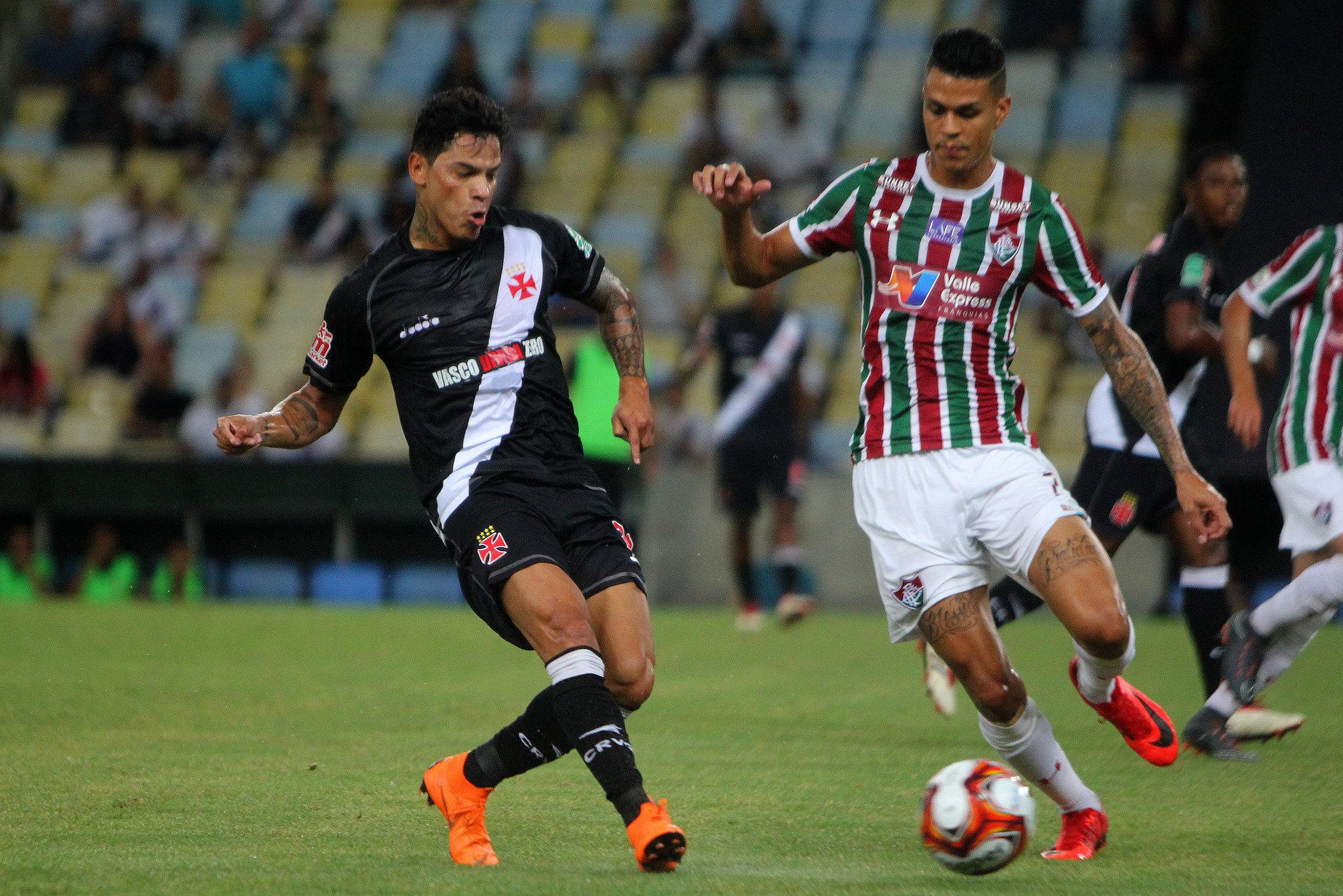 Com histórico de gols e assistências diante do Fluminense, Giovanni Augusto quer manter o retrospecto para ajudar o Vasco no retorno do Brasileirão