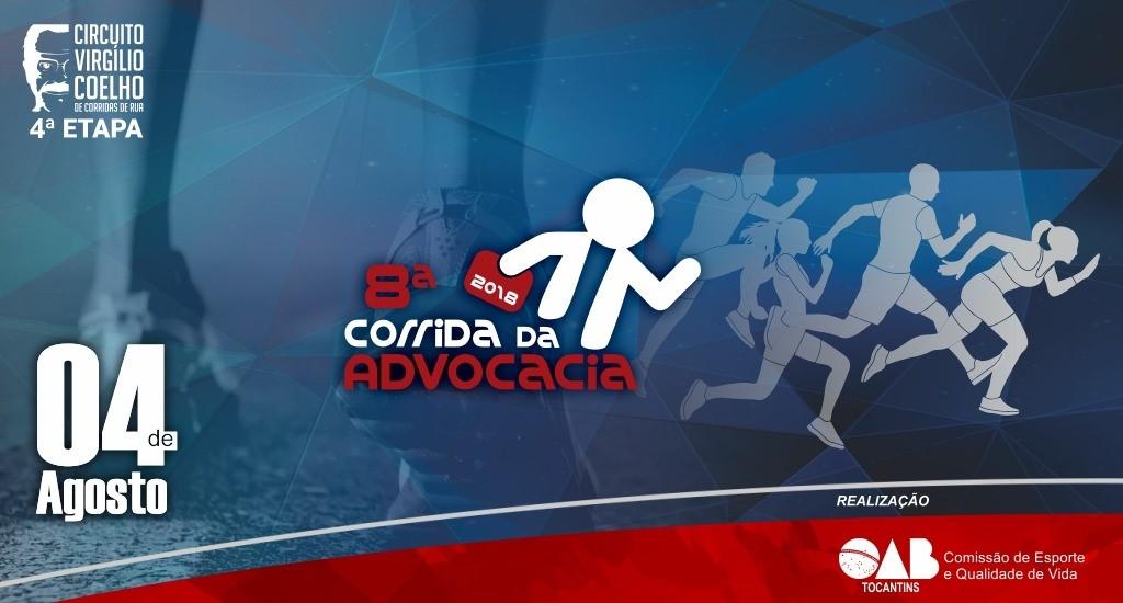 Inscrições para a 8ª Corrida da Advocacia se encerram nesta sexta-feira, 06