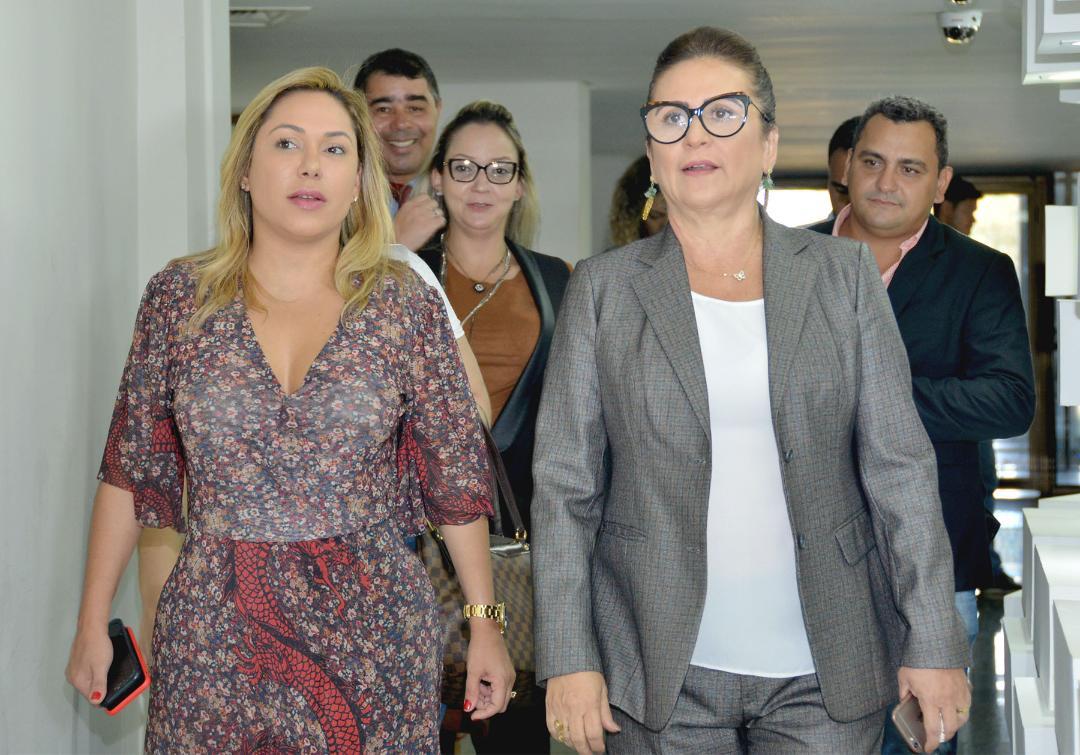 Presidente da Assembleia recebe senadora Kátia Abreu