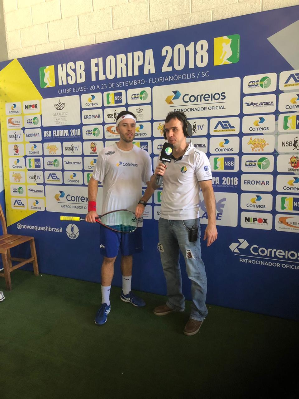 Circuito de Squash Profissional – NSB tem decisão da sétima etapa neste domingo em Florianópolis