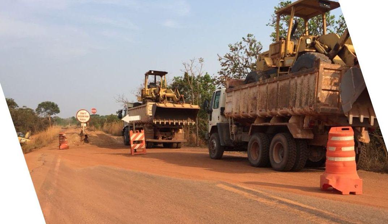 Governo do Tocantins inicia reconstrução de trecho TO-080 entre Marianópolis e Divinópolis