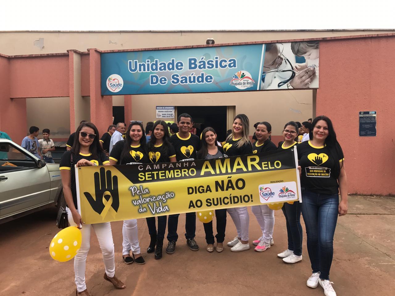 """Secretaria de Saúde de Chapada de Areia (TO) mobiliza ações na campanha """"Setembro Amarelo"""""""