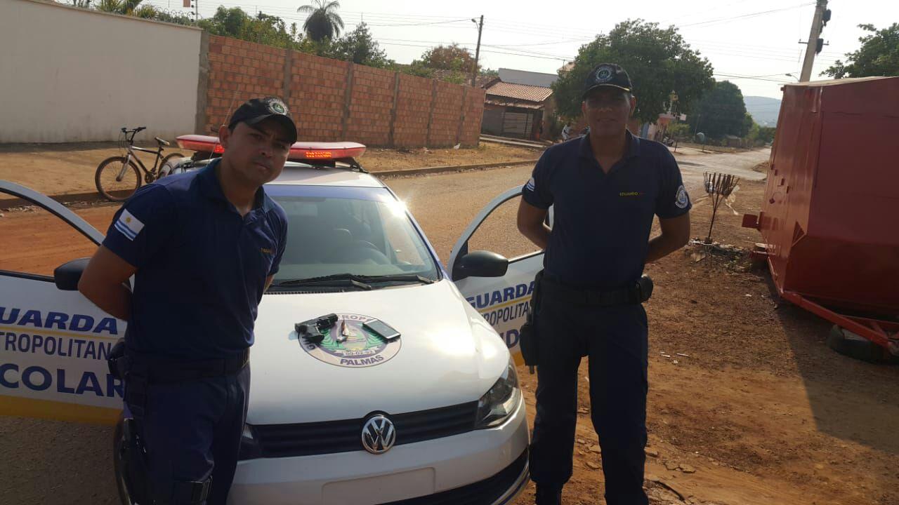 Equipe da Guarda Escolar da GMP apreende dois suspeitos de praticar assaltos na região Sul de Palmas